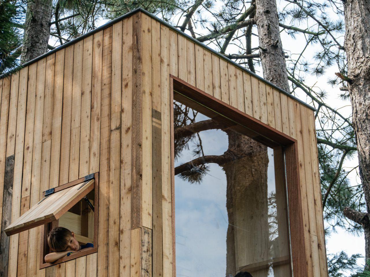 boomterras, boomhut, hout, treehouse, speelhut