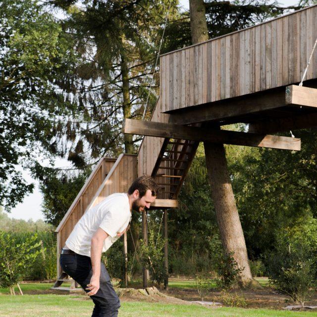 boomterras, boomhut, hout, treehouse, houten terras