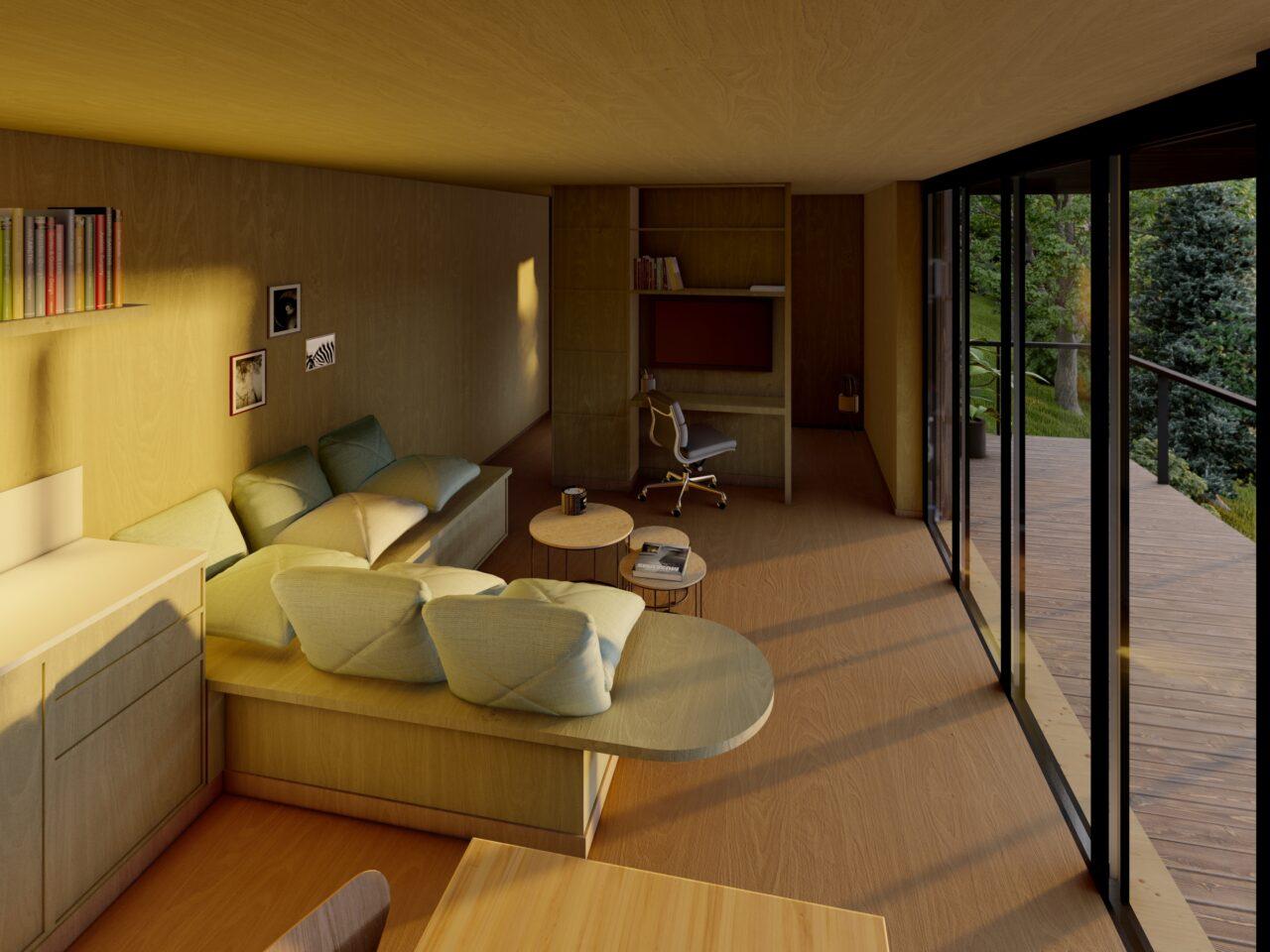 tiny house, vakantiewoning, boomhut, België, Wallonië