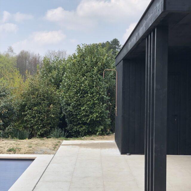 overdekt terras, lounge, bijgebouw, berging