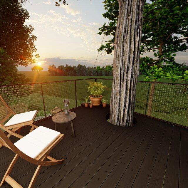 tuinkantoor, boomhut, hout, gardenoffice
