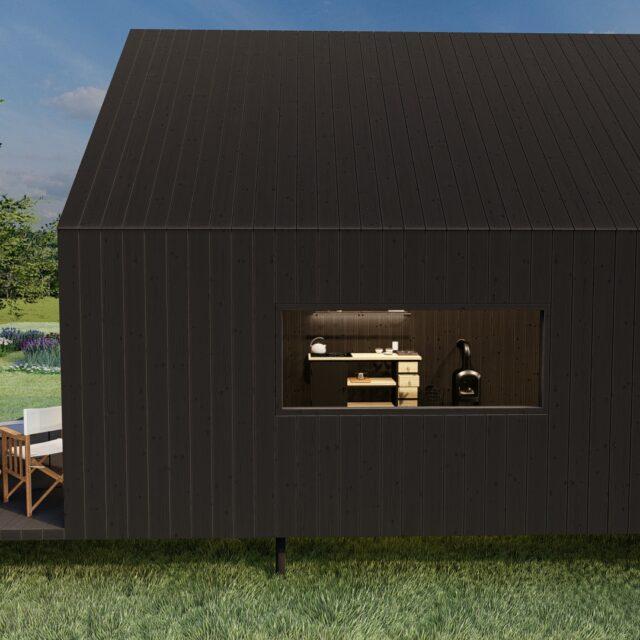 tiny house, houten huis, tuinkantoor